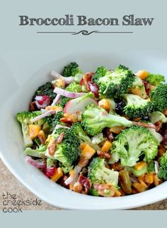 {USA} Broccoli Bacon Slaw - tons of fresh flavor! | The Creekside Cook