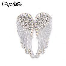 a81f7d78af7d Pipitree Moda Vintage Angel Wings Broche Mujeres Joyería de Los Hombres de  Regalo de Navidad de