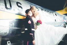 MAPS Air Museum Wedding Photography by La Candella Weddings