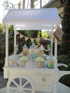 Miss Lolly's Candy Cart Wedding Snacks, Wedding Candy, Wedding Sweet Cart, Candy Bar Decoracion, Sweet Carts, Lolly Buffet, Bridal Shower, Baby Shower, Hot Chocolate Bars