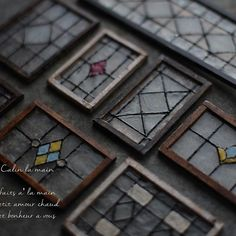 Home Decorators Collection Rugs Dollhouse Windows, Diy Dollhouse, Stained Glass Angel, Faux Stained Glass, Miniature Crafts, Miniature Dolls, Miniature Furniture, Dollhouse Furniture, Clay Miniatures