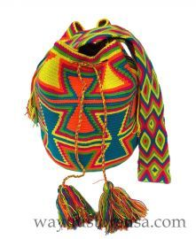 Authentic Wayuu Bags Wayuu Mochilas ~ Crossbody 11 in. H  x 9 in. W