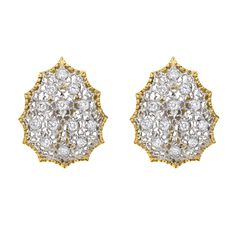 Buccellati Diamond Lattice Earclips