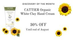 Discovery of the month - 30% OFF CATTIER's White Clay Hand Cream until the end of the month ! Try it now !   http://www.greenbee.sg/products/cattier-white-clay-hand-cream