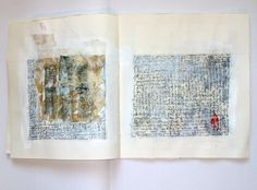 Unique artist book mixed media with asemic writing by Ifigeneia Sdoukou