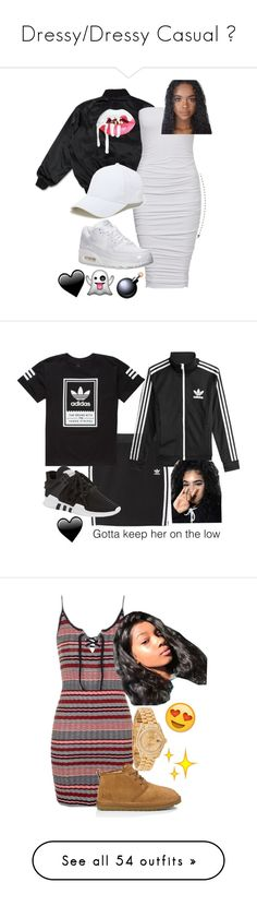 """Dressy/Dressy Casual ✨"" by bxbysnoop ❤ liked on Polyvore featuring Sole Society, NIKE, adidas Originals, adidas, Topshop, UGG Australia, Rolex, Boohoo, ROSEFIELD and Amanda Rose Collection"