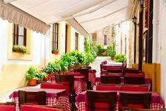 Café à Tossa de Mar, Gérone - Costa Brava (Espagne)