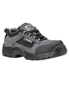 Click Mens Anti Static//Slip Safety Work Trainer Dark Grey reflective size 3-11uk