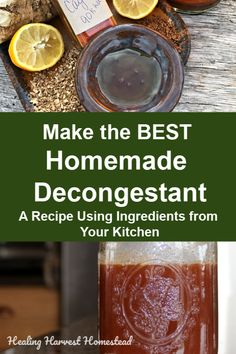 DIY BEST Decongestant that REALLY Works! How to Get Rid of a Stuffy Nose Naturally Need to get rid of a stuffy nose? This homemade decongestant recipe uses spices you have right in your own kitchen! It's easy, fast, and best of all, this tasty liquid will Home Remedies For Colds For Babies, Cold Home Remedies, Natural Health Remedies, Natural Cures, Natural Healing, Herbal Remedies, Natural Foods, Natural Treatments, Holistic Healing