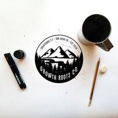 Branding by the talented Deep Bear. Instagram: deep.bear deepbearshop@gmail.com Logo for Growth Roots Company @growthrootsco www.growthrootsco.com