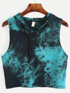Blue Tie Dye Print Hooded Crop Top - Blue Tie Dye Print Hooded Crop Top Source by taaliyaah - Tie Dye Tops, Tie Dye Shirts, Tie Dye Hoodie, Tie Dye Crop Top, Loose Crop Top, Tie Dye Outfits, Crop Top Outfits, Embellished Crop Top, Crop Tops Online