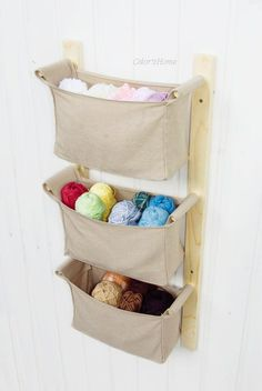 FREE worldwide shipping Wooden wall hanging organizer - hanging diaper caddy for natural nursery
