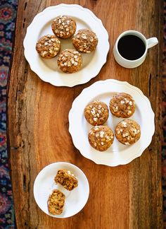 Maple-sweetened pumpkin and oat muffins - cookieandkate.com