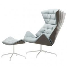 """Formstelle designs Lounge Chair 808 for  Thonet with """"wave effect"""" upholstery"""