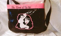 My bettie bag pinned by someone else!! Awesome!!    Bettie Page Pinup Duct tape purse! I love this!