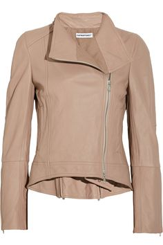 Designers Ken Kaufman and Isaac Franco opted for the softest washed-leather when crafting this classic biker jacket, ensuring the perfect fit and feel. The blush hue will work seamlessly with your summer wardrobe, so switch up your new-season style routine and wear it with a flared white dress and statement cocktail jewelry.