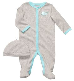 Carters Stripey Whale Coverall  Cap Set Sizes NB  9M  gray 9 months *** You can get more details by clicking on the image. (This is an affiliate link) #BabyBoyFootiesandRompers