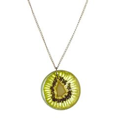Resin Kiwi Necklace Chain