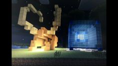 This is just a few of my things on minecraft. on the right is a tessract. The other is Loki's helmet.