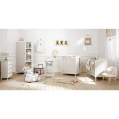 Chambre De Bébé Déco Claire En Gris Pâle Et Blanc Chambre Bébé Cosy, Déco  Chambre