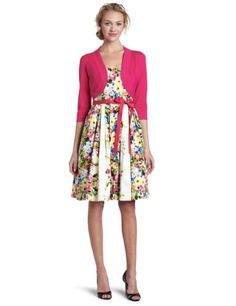 Jessica Howard Women's Bouquet Belted Dress « Clothing Impulse