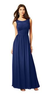 Alfred Angelo 7298L--flattering cut for all four; would want a deeper color though