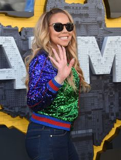Singer Mariah Carey attends the Los Angeles premiere of 'The Lego Batman Movie' at the Regency Village Theatre in Westwood.