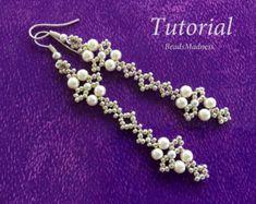 PDF tutorial Beaded earrings_bead por BeadsMadness en Etsy
