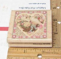 DOVES & ROSES BY RUBBER STAMPEDE ROMANTIC HEART RUBBER STAMP #RubberStampede #rubberstamp Decorative Boxes, Stamp, Romantic, Things To Sell, Rose, Crafts, Ebay, Art, Art Background