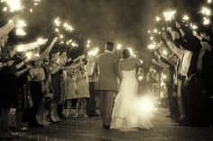 Sparklers! None of that throw-crap-at-you thing at my wedding.