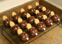 Fun Food kids beaver biber tiere animals teeth zähne cute niedlich cupcakes muffins backen bake sweets