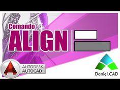 ▶ AutoCAD 2015 - Comando Align (Alinhar) - YouTube