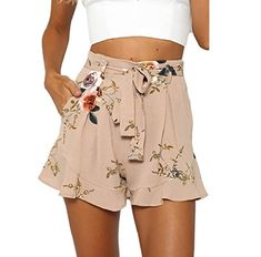 Trending Summer Women Clothes Under 10 Dollars  morecome Shorts, Women Skirt Summer Print Short Pants (Khaki) I found cute cheap summer clothes women in many styles such as cute summer shirts women, short summer shorts, cheap summer rompers women and cute summer short skirts. These are all great additions to your summer wardrobe. #shortshorts