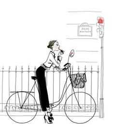 lipstick while biking, paused at the stop light...always law abiding Twirling Clare: a little bit of lipstick