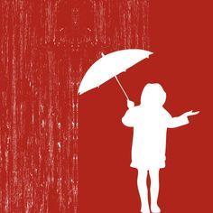 Playing with the rain Vector Graphic Rain Umbrella, Under My Umbrella, White Umbrella, London Blog, Umbrellas Parasols, Singing In The Rain, Rainy Season, London Hotels, Illustrations