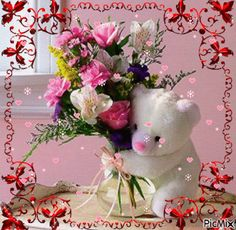 Send New Baby Flowers today! Same day delivery to Brunswick, GA and surrounding areas. Buy the freshest flowers from The Flower Basket! New Baby Flowers, Bunch Of Flowers, Water Flowers, Gifs, Happy Sunday Quotes, Cute Bears, Flower Basket, Flower Delivery, Bunt