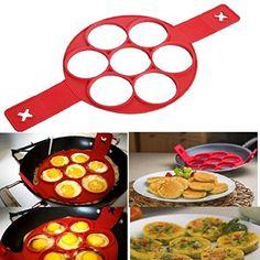 Nonstick Silicone Pancake Ring, Fried Egg Mold Egg Ring Pancake Mold Kitchen Tools