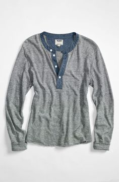 Henley with chambray- Todd Snyder