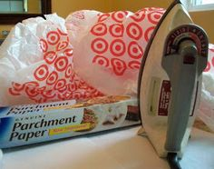 How To Fuse Grocery Bags to make plastic for inserts on projects