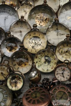 Clocks!  This gives me an idea, download picture of clock faces and mod podge them on to the backs of craft glass,