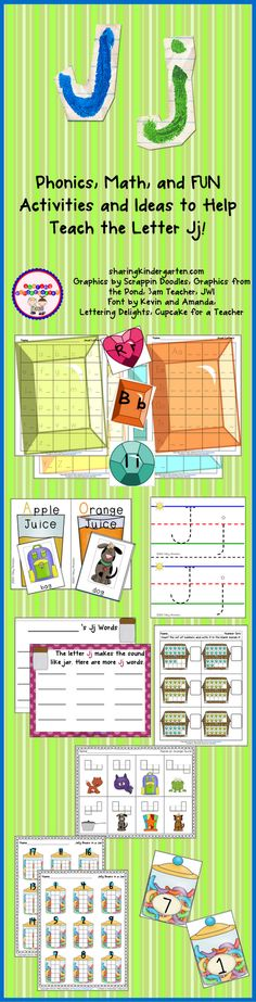This week my class will be learning all about the letter Jj. I made this pack to cover all the needs my class has for this upcoming week! Letter J Activities, Preschool Letters, Literacy Activities, Help Teaching, Teaching Ideas, Kindergarten Phonics, Teachers Corner, Abc For Kids, Letter Of The Week