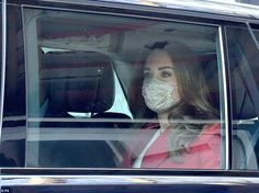 The royal wore her soft brunette locks in her customary bouncy blow-dry style and kept her...