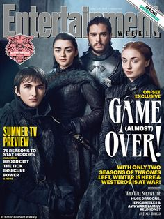 Family reunion! The surviving Stark children reunited for a special Game Of Thrones cover of Entertainment Weekly