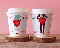 Valentine's  cups