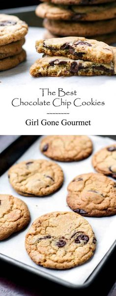Crispy on the outside and soft & chewy on the inside - these are the best chocolate chip cookies I've ever made! | girlgonegourmet.com