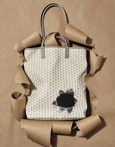 A Leather Tote That S Luxuriously Ripped