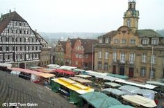Farmer's Market in the Main Marketplace, Schwaebisch Hall, Germany