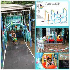 Make a PVC Pipe Kiddie Car Wash