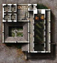 Keep: Second floor and bastions