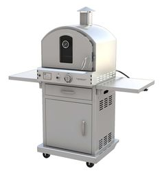"""22.8"""" Outdoor Pizza Oven Gas Grill with Cart"""